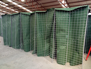 Military Green Color Blast Barrier Wall Wire Mesh Container China Factory