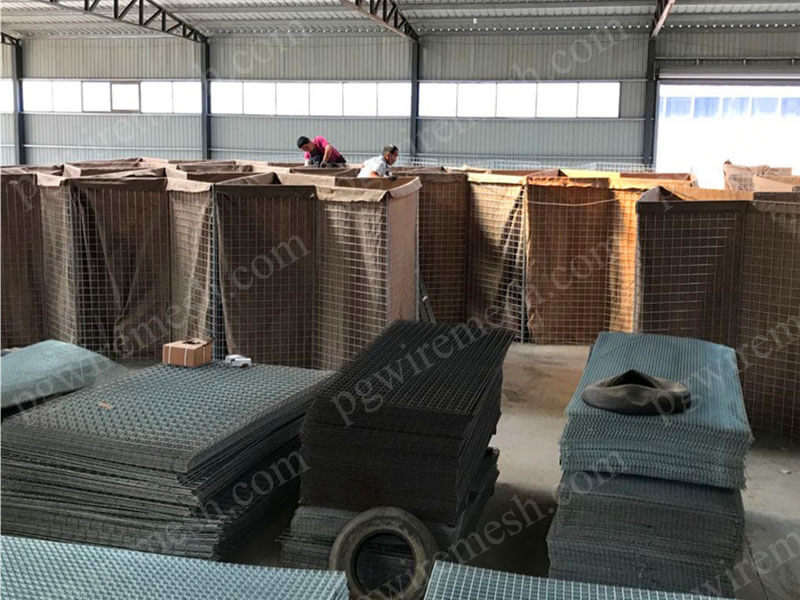 China military sand wall hesco barrier bastion military fortress/bunker with sand