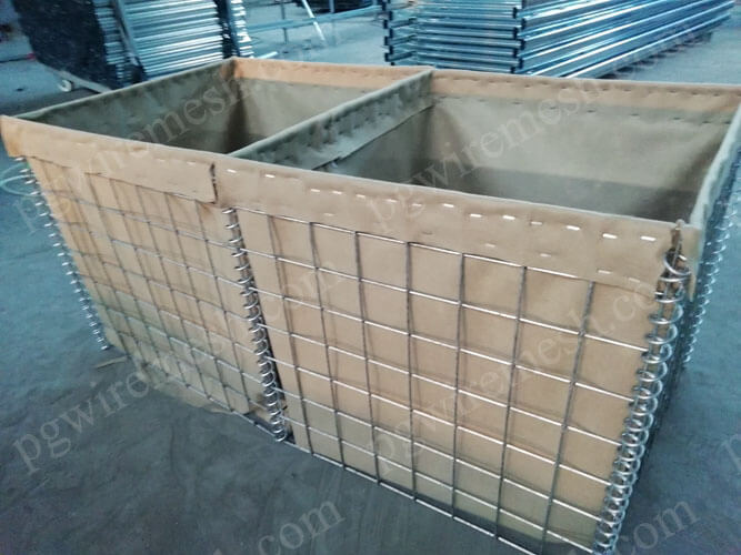 Galfan(zinc-aluminum) coated hesco defensive barrier China manufacturer