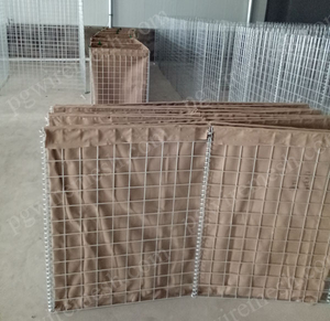 China geotextile lined hesco barrier military security barrier filled sand for blast mitigation