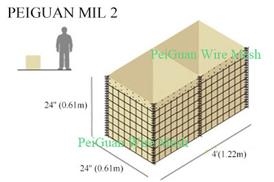 Hesco Bastion Barrier MIL2 2424R